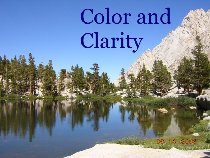 Color and Clarity